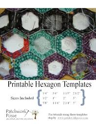 Printable Hexagon Template for Quilting [PDF download] & printable hexagon template for quilting - 12 Different Hexagon Templates  Printable Adamdwight.com