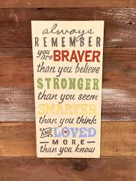 Christopher Robin Quotes Beauteous Always Remember You Are Braver Always Remember Sign Christopher