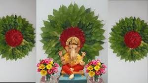how to make big flower with leaves for ganpati decoration eco friendly ganpati decoration