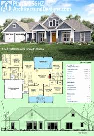 1 story victorian house plans fresh plan hz 4 bed craftsman with tapered columns