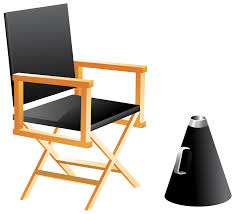 chair clipart. directors chair and megaphone png clip art clipart