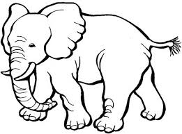 Baby Elephant With Mother Coloring Page Super Coloring Wall Art