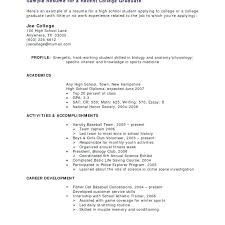 Resume Examples For College Students With Little Experience Mesmerizing Sample College Student Resume Districte48