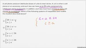 systems of linear inequalities word problems harder example khan academy