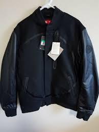 nike air destroyer leather er flight jacket black wool xl 857499 010