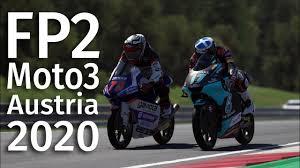 FP2 Moto3 Austria 2020 Free Practice 2 Red Bull Ring Spielberg AustrianGP -  YouTube