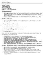 Resume For Pediatrician Pediatrician Resume New Pediatrician Resume Sample Lpn