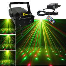 aucd mini black s portable ir remote red green laser projector lights dj ktv home xmas