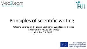 Scientific Writing Principles Of Scientific Writing