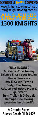 Gold Coast Towing Light And Heavy Knights Heavy Towing Recovery Services Towing Services