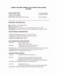 Resume Latex Template Unique Excellent Ideas Student Resume Format