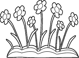 Cute Spring Flowers Coloring Pages 7 At Flower Coloring Pages For