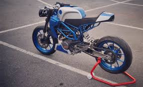 sonic200 ktm duke200 cafe racer by inline3 custom motorcycles