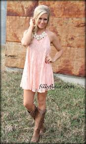 In need of a hot date lace dress in PEACH  Filly Flair