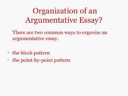 argumentative essays 5 organization of anargumentative essay