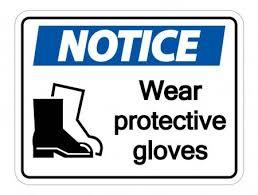 Attention porter des chaussures de protection sur fond transparent,  illustration vectorielle — Image vectorielle Seetwo © #255538338