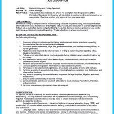 Billing Specialist Job Description Resume Billing Specialist Resume Medical Cover Letter North Fourthwall Co 27