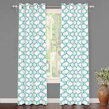 White and Teal Curtains: Amazon.com