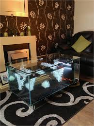 tank furniture. Furniturecool Aquarium Coffee Table Idea With Glass Top Gorgeous Living Room Black Leather Tank Furniture