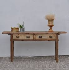 rustic reclaimed two drawer console