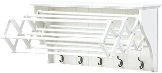 accordion wall mounted laundry drying rack mount dish singapore