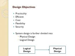 Difference Between Logical And Physical Design In Sad System Design And Modeling Ppt Download