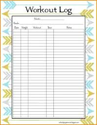 Blank Workout Logs Workout Logs Excel Printable Daily Journal In Weightlifting