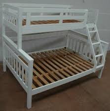 ... BEDS > Single over Double > Fort Trio Bunk WHITE. Trundle available as  an optional extra.