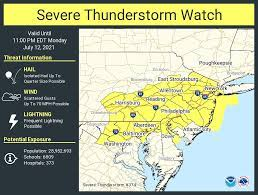 Weather: Severe thunderstorm watch for ...