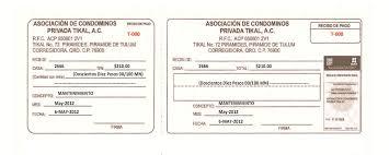 Formato De Recibos Aviso Sobre Recibos Temporales Privada Tikal Piramides