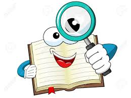 mascot open book looking through magnifying gl isolated stock vector 75070674