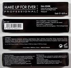 make up for ever full cover concealer box and ings