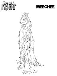 Smallfoot Coloring Pages To Print Meechee Smallfoot In 2019