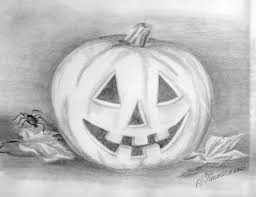 pumpkin drawing with shading. shading halloween drawing ; halloween3 pumpkin with o