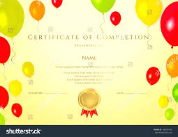 certificates of completion for kids template certificate of achievement template for kids