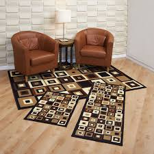 Home Furnishings Amazoncom Achim Home Furnishings Capri 3 Piece Rug Set