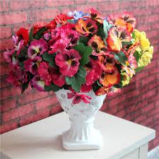 home office arrangements. Beautiful Arrangements Keythemelife Pansy Artificial Flowers Plants Home Office Wedding Decoration  Silk Flower DIY Arrangement Floral Art Din U0026 Dried  To Arrangements