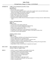 Stocking Resume Examples Supply Tech Resume Samples Velvet Jobs 9