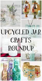 Upcycled Jar Crafts Roundup - recycled jar craft ideas