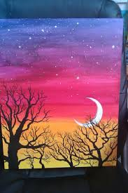 acrylic canvas painting ideas for beginners easy acrylic painting ideas trees google search paint