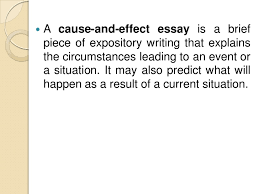 cause and effect essay writing 3 iuml130151 a cause and effect essay is a brief piece of expository writing