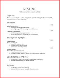 Hobby Resume Sample Resume Example 2018