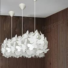 modern ac110 220v e27 white erfly feathers pendant ceiling chandelier light for living room