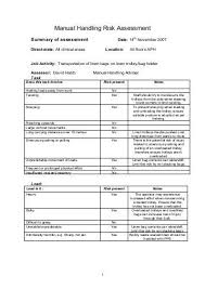 Hse Manual Handling Assessment Charts Indg383