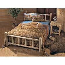 Log Bed Frame: Amazon.com