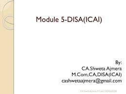 Disa Cio Org Chart Disa Module 5 By Ca Shweta Ajmera Indore