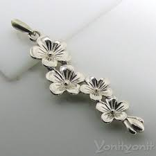 home jewelry necklaces silver flowers