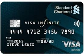 Standard Charted Online Credit Card Payment The Standard Chartered Visa Infinite Card Get One Online Now