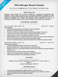 office manager resume sample resume companion resume samples office manager