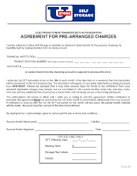 Automatic Withdrawal Form Template Printable Forms U Store Self Storage